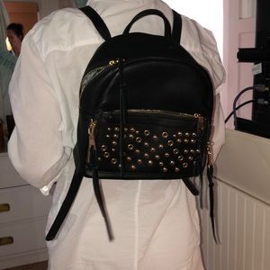 Moda luxe gold studded backpack